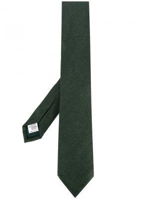 Классический галстук Canali. Цвет: зелёный