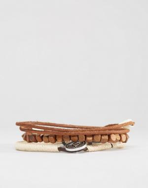 Icon Brand Набор браслетов из шнурков и бусин. Цвет: мульти