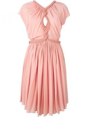 Платье с декоративной веревкой Jay Ahr. Цвет: розовый и фиолетовый