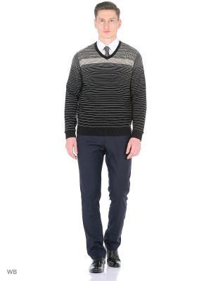 Пуловер GALS. Цвет: черный, серый