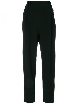 Плиссированные укороченные брюки 3.1 Phillip Lim. Цвет: чёрный
