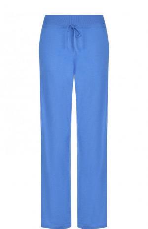 Однотонные брюки из смеси кашемира и шелка Cruciani. Цвет: синий