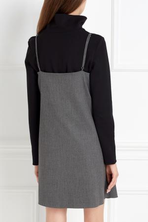 Прямое платье ARnouveau. Цвет: серый