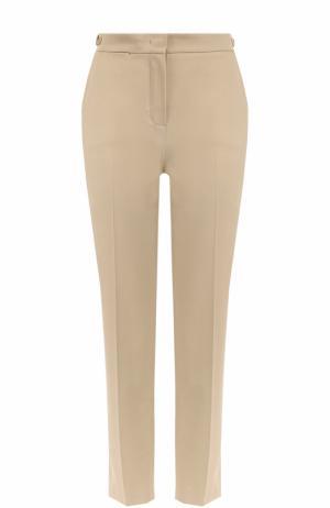 Укороченные брюки прямого кроя со стрелками Loro Piana. Цвет: бежевый