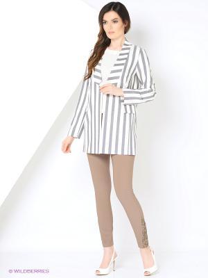 Жакет Femme. Цвет: серый, белый