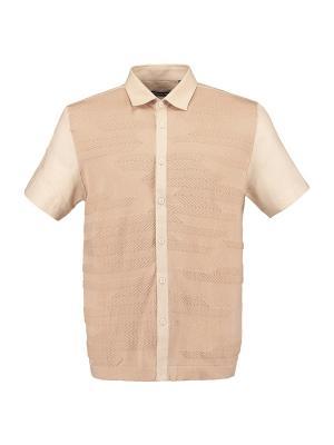 Рубашка Umberto Vallati. Цвет: бежевый
