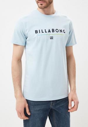 Футболка Billabong. Цвет: голубой
