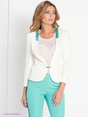 Жакет DEVORE. Цвет: белый, зеленый