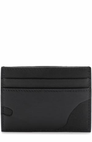Кожаный футляр для кредитных карт  Garavani с текстильной отделкой Valentino. Цвет: черный
