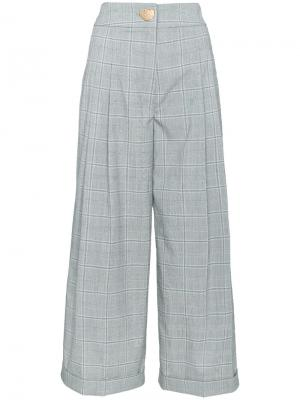 Широкие брюки в клетку Rejina Pyo. Цвет: чёрный