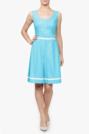 Платье MSW ATELIER. Цвет: голубой