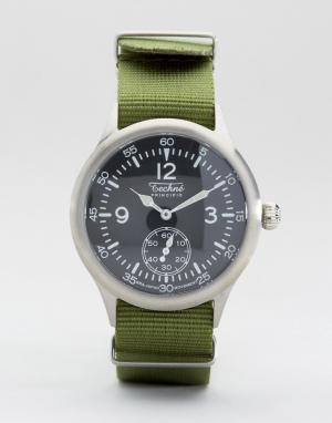 Techne Часы с оливковым ремешком Merlin Nato. Цвет: зеленый