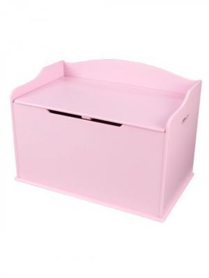 Ящик для хранения Austin Toy Box - Pink (розовый) KidKraft. Цвет: розовый