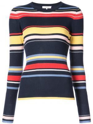 Джемпер с разноцветными полосками Frame Denim. Цвет: синий