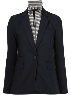 Пиджак с завязками на горловине Veronica Beard. Цвет: белый