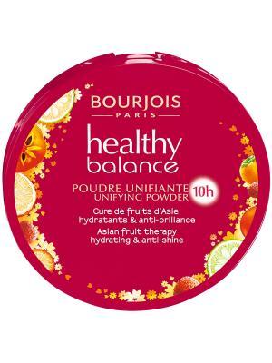 Компактная пудра выравнивающая Bourjois Healthy Balance, тон 55. Цвет: бежевый