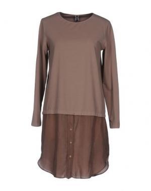Короткое платье EUROPEAN CULTURE. Цвет: хаки