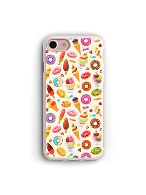 Чехол для iPhone 7/8 Сладости Boom Case. Цвет: лиловый, светло-желтый, фиолетовый