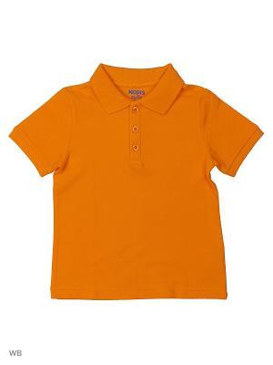 Футболка-поло Modis. Цвет: светло-коричневый, оранжевый