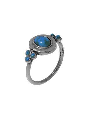 Кольцо DEN'O. Цвет: серебристый, синий