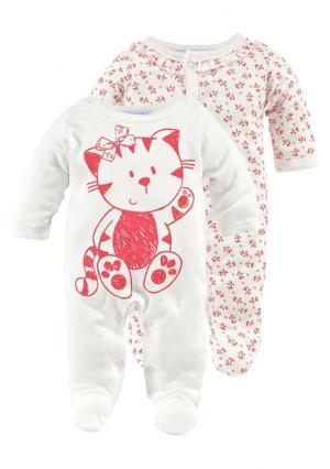 Пижама-боди, 2 штуки KLITZEKLEIN. Цвет: телесный