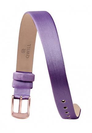 Ремешок для часов Qwill. Цвет: фиолетовый