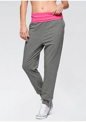 Спортивные брюки. Цвет: серый в полоску, темно-серый, цвет морской волны