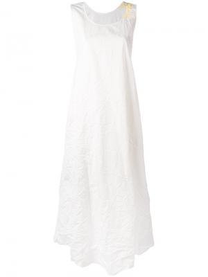 Расклешенное платье миди Daniela Gregis. Цвет: телесный