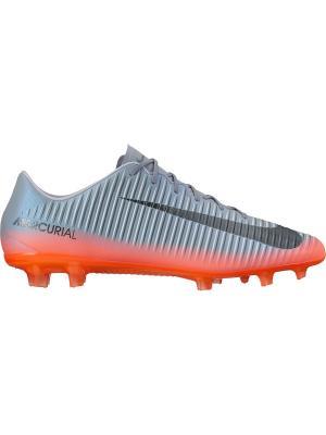 Бутсы MERCURIAL VELOCE III CR7 FG Nike. Цвет: серый, оранжевый