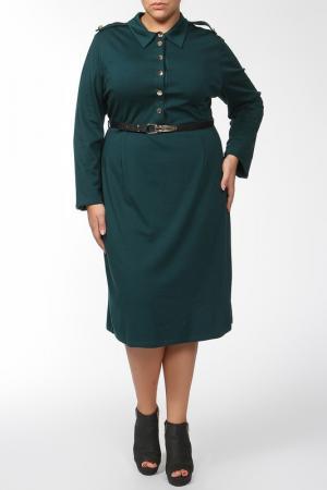 Платье Qneel. Цвет: зеленый