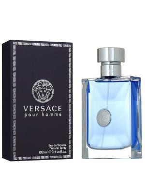 Туалетная вода Versace pour homme, 100 мл. Цвет: черный, голубой