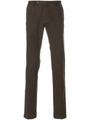 Прямые брюки Hackett. Цвет: коричневый