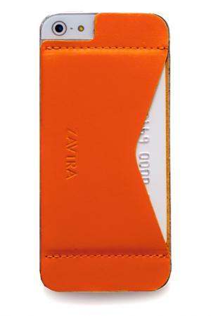 Кошелек-накладка iPhone 5/5s ZAVTRA. Цвет: оранжевый