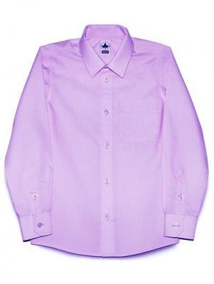 Рубашка классическая INTERA. Цвет: сиреневый