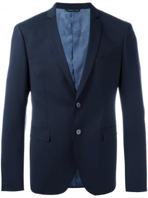 Two button blazer Tonello. Цвет: синий