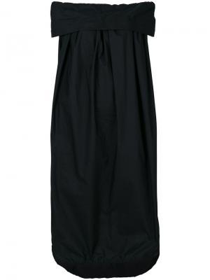 Платье со вставкой и открытыми плечами Ter Et Bantine. Цвет: чёрный