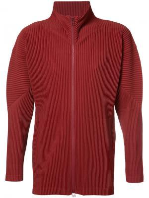 Спортивная куртка на молнии Homme Plissé Issey Miyake. Цвет: красный