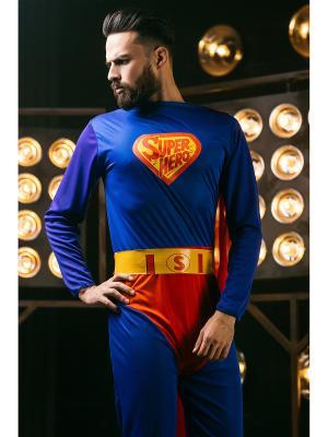 Костюм Супергероя, Супермена La Mascarade. Цвет: синий, желтый, красный