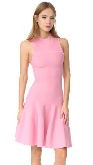 Расклешенное платье без рукавов Carven. Цвет: розовый