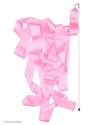 Лента гимнастическая Larsen. Цвет: розовый