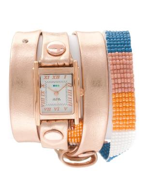 Часы La Mer Collections Guatemala Beaded Rose Gold Orange. Цвет: золотистый