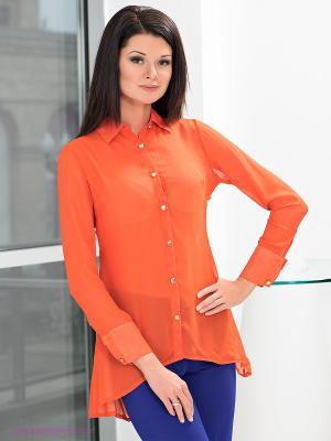 Блузка MONDIGO. Цвет: оранжевый