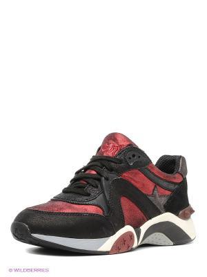 Кроссовки ASH. Цвет: черный, коричневый, красный