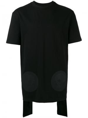 Многослойная футболка со шлицей на спине D.Gnak. Цвет: чёрный