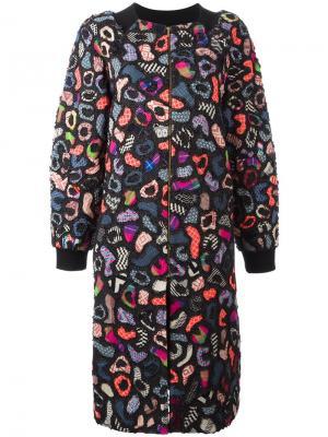 Пальто с абстрактным узором Manish Arora. Цвет: чёрный
