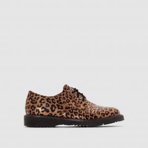 Ботинки-дерби с леопардовым рисунком La Redoute Collections. Цвет: леопардовый рисунок