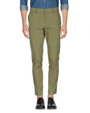 Повседневные брюки THE EDITOR. Цвет: зеленый-милитари