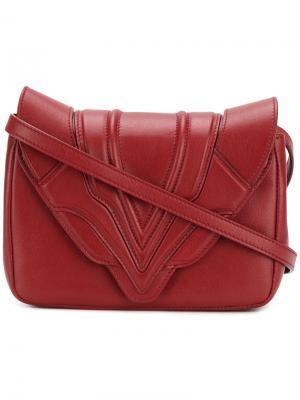 Stitched panel cross-body bag Elena Ghisellini. Цвет: красный