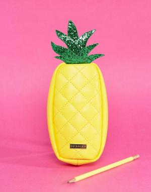 Skinnydip Пенал в виде ананаса. Цвет: мульти