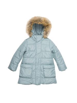 Пальто Button Blue. Цвет: бирюзовый